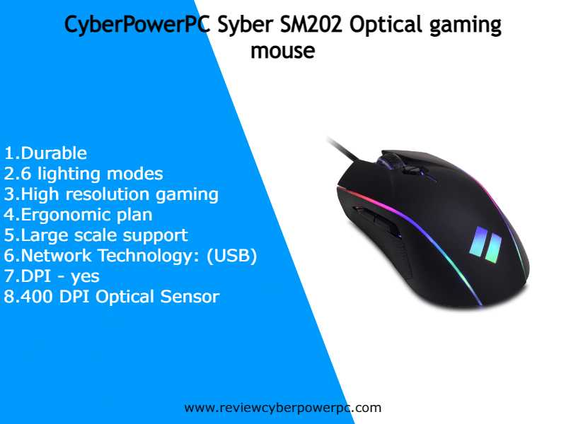 cyberpowerpc gaming optical mouse dpi